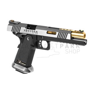 Hi-Capa 6 Force A Gold Barrel Full Metal GBB Dual Tone
