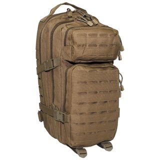 US Rucksack Assault I Laser TAN